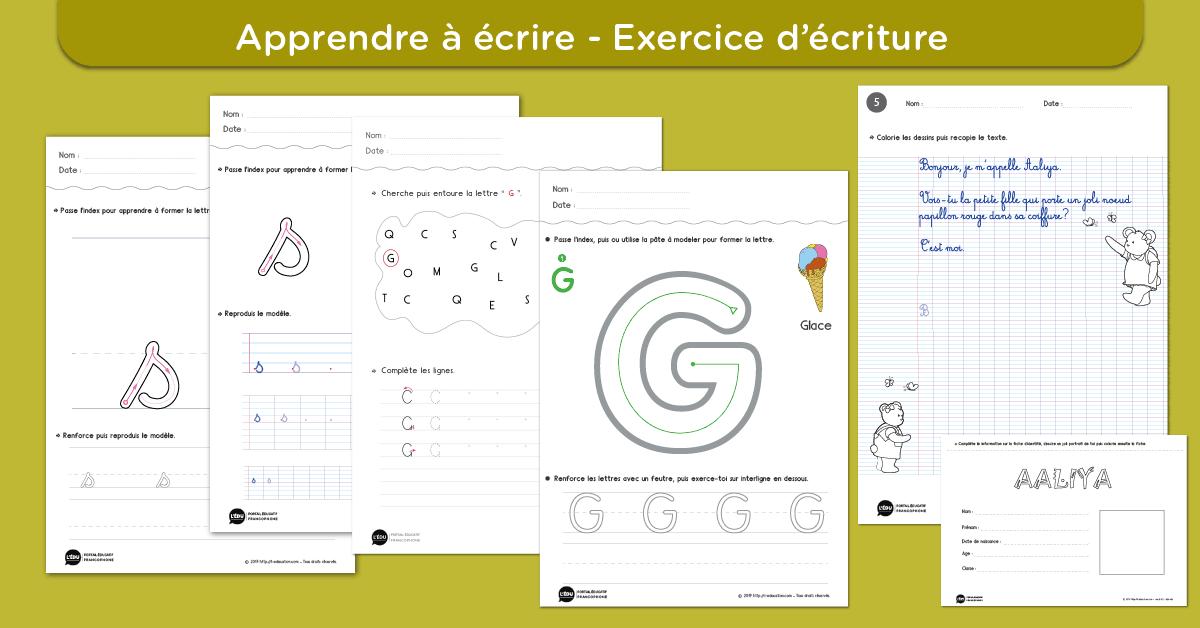 Apprendre A Ecrire Feuilles Fiches Et Cahiers D Ecriture Gratuits A Imprimer