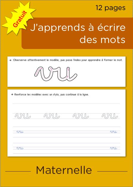 Exercices D Ecriture Maternelle A Imprimer Cahier D
